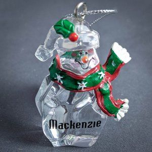Mackenzie Christmas Ornament Personalized Snowman